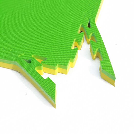 interlocking foam mat green - yellow
