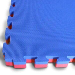 30mm Interlocking Jigsaw Mats - Blue / Red