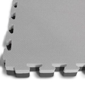 30mm Interlocking Jigsaw Mats - Black / Grey