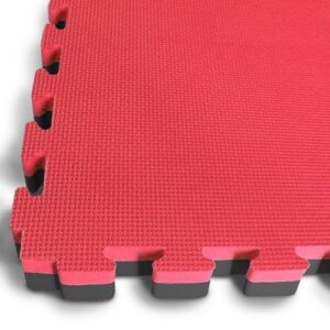 40mm Interlocking Jigsaw Mats – Red / Black