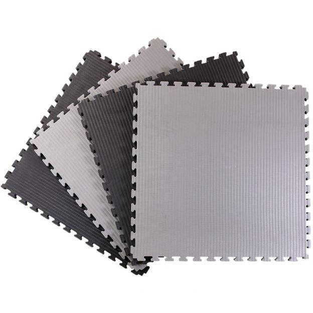 40mm Tatami Jigsaw Mats Black Grey