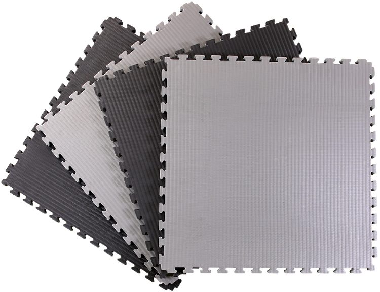 40mm Tatami Jigsaw Mats Black Grey