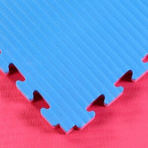 Red Blue 40mm tatami jigsaw mats