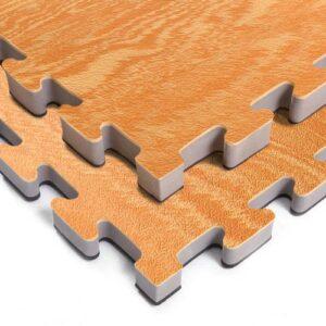 Wood Grain / Black High Density Foam Mats